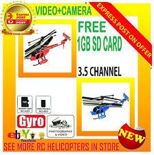 FJ-741C 3.5 CH Gyro Video Camera RC Helicopter RTF MD500 Model + 1GB SD Card