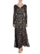 Linea Black Lace Fishtail Maxi Dress Size UK 12 RRP £169 Box46 05 A