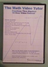 THE MATH VIDEO TUTOR fractions thru algebra !   DVD  2 disc set