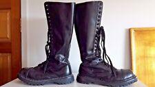 DEMONIA womens mens knee high black Rock boots  -  UK 9 / EU 42 Festival