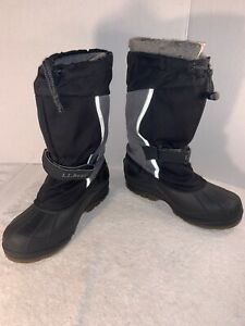 Boys Boots - L.L. Bean | Size: 6G | Black & Gray Winter Rain Snow Boots For Kids