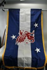 NOS Valley Forge Beta Thea Pi Flag With Gold Fringe 3'x5' Perma-Nyl Box Opened