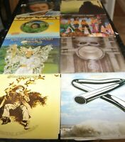 Tasty  lot of  prog rock (8) all originals and some unplayed condition 1 promo