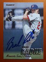 Brad Radke Vintage Signed 1997 Fleer Card #155 - AUTOGRAPH Minnesota Twins AUTO