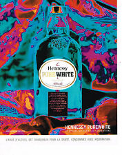 PUBLICITE ADVERTISING 075  2001  HENNESSY PURE WHITE  cognac