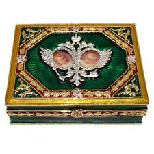 Réplique Boite de Fabergé - Boite collection du Tsar en email - Faberge box