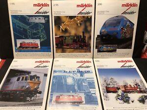 1995 THE MARKLIN CLUB MAGAZINE INSIDER 6 ENGLISH ISSUES MODEL TRAINS RAILROAD