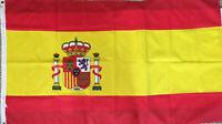 """Vtg 35""""x60"""" Spain Crest Flag Outdoor Banner Pennant Spain National Soccer Team"""