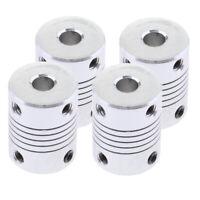 4 Packs 6x8x25 mm Flexible Coupler Shaft for Stepper Motor 3D Printer