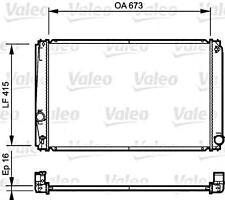 VALEO Wasserkühler Motorkühlung 735215 für TOYOTA Rav 2006-