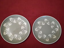 "Harker ware Sage Green Ivy Wreath 7 1/4"" Salad Plates, set of 2"