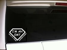 "EMT Superpower Car Decal Vinyl Sticker 6"" *B50* rescue fireman emergency medical"