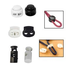 Toggle Cord Stopper Locks End Drawstring Plastic Spring Loaded With Hole Button
