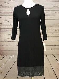 NWT Loveappella StitchFix Greer Knit Dress Long Sleeve Medium Sheath Midi Eyelet