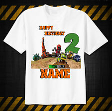 DINOTRUX Custom Tshirt PERSONALIZE Birthday ADD NAME AGE, tv show, preschool