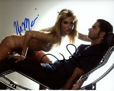 HEATHER MORRIS & JOHN STAMOS signed autographed GLEE BRITTANY & CARL photo