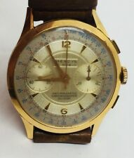 Mendys Vintage 18k Solid Gold Chronograph Manual Wind Mens Watch