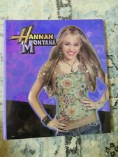 Hannah Montana 3 Ringed Binder Puffy Disney Young Miley Cyrus trapper keeper