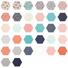 252 Fabric Hexagons diecut from a Moda Layer Cake - Sweet Marion by PrairieGrass