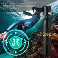 DIDEEP 0.5L Diving Scuba Cylinder Oxygen Tank Underwater Breath Snorkeling