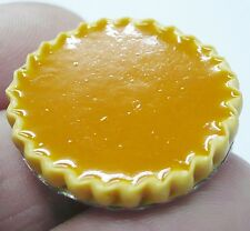 Pumpkin Pie On Tin Pans Dollhouse Miniatures Food Bakery