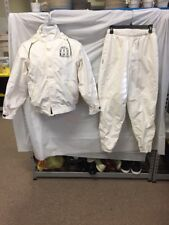 Boathouse Hooded Vented Jacket & Pants White Sz S Bald Head Island Croquet Club
