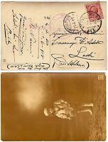 983 - Regno - Annullo posta militare 141 su cartolina per Lodi, 06/07/1918