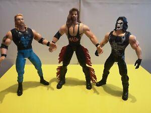 "14"" 1999 Marvel WCW Kevin Nash, Sting And DDP Figures"