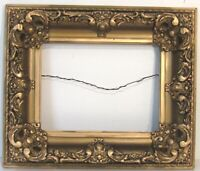 ANTIQUE MUSEUM QUALITY LOUIS XV STYLE GOLD LEAF FRAME FOR PAINTING 12 X 9 inch