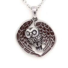 "Owl Necklace ""Starry Eyed Owl"", Bird Pendant By Controse"