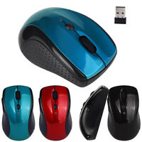 Adjustable 1600DPI 2.4G Optical Wireless Mouse Mice w/ USB Dongle For Laptop PC