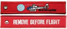 EUROCOPTER - REMOVE BEFORE FLIGHT - RED KEYCHAIN - KEY046