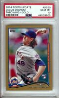Jacob DeGrom 2014 Topps Update RC Rookie Card Gold PSA 10 Gem Mint #US50 #/2014