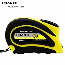 UBANTE Measuring Tape with Auto Locking 1-Inch x 25FT Retractable  Heavy Duty