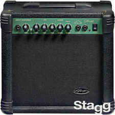 "NEW Stagg 15-Watt 6.5"" Speaker Guitar Amplifier Black with Digital Reverb"