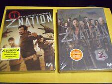 (2) Z Nation Season Zombie Horror DVD Lot:  Seasons 1 & 2  w/Slipcovers   NEW