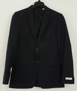 New $589 Tiger of Sweden Men's 40R Trim Black Gray Tonal Stripe Wool Sport Coat