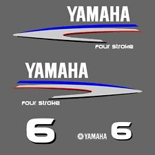 kit stickers YAMAHA 6 cv serie 2 - autocollant capot moteur hors-bord decals