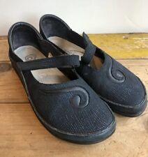 $179 NAOT 'Matai' Reptile Navy Blue Ink Leather EU 37 US 6 Mary Jane Swirl