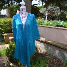 Gilet veste Femme Long Dentelle bleu taille 46 48  Michele Hope ZAZA2CATS new