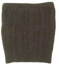 Ralph Lauren women's sz S/P Black cableknit jewelled cashmere tube sexy club EUC
