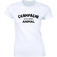Champagne Is My Spirit Animal Shirt Funny Drinking Party Wine Lover Tee T-shirt