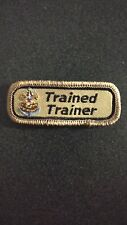 Sea Scout Leader TRAINED TRAINER Strip Tab Non BSA Private Issue Khaki