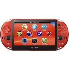SONY Playstation Vita PSV 2000 WiFi Console Metallic Red CN *VGC*+Warranty!