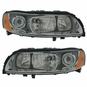 Volvo XC70 Mk1 Estate 5/2005-2007 Halogen Headlights Headlamps 1 Pair O/S & N/S