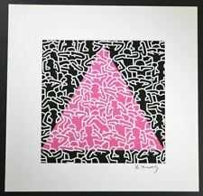 """Keith Haring, """"Untitled"""" (people pink triangle), Special Print from a VIP Book,"""