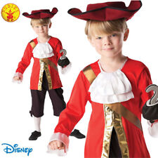 Captain Hook Boys Costume Book Week Child Pirate Disney Peter Pan Fancy Dress 7