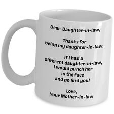 Gift For Daughter In Law From Mother In Law Coffee Mug Funny Cute Thank You Cup