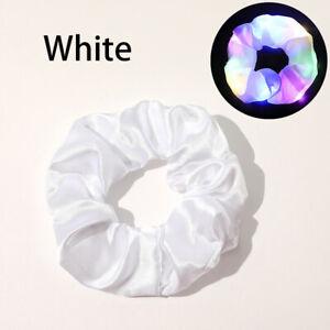 LED Luminous Elastic Scrunchies Hairband Ponytail Holder Headwear Women Girls ca