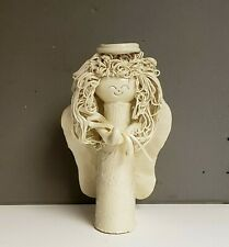 Unique Angel Hand Made One-of-a-Kind White Clay Marked Morissey
